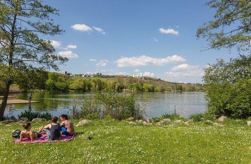 Das Wetter lädt zum Verweilen ein - zum Beispiel am Max-Eyth-See.  Foto: 7aktuell.de/Herlinger