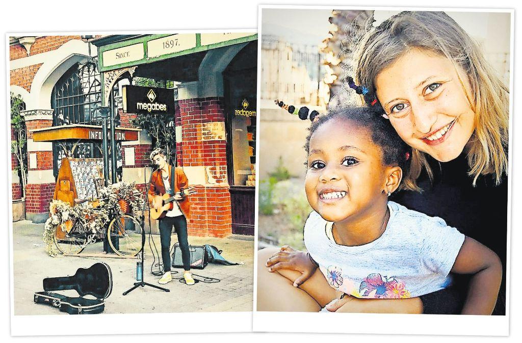 Beim Reisen Geld verdienen – Nikos Chatzivasiliadis (links)  will sich mit Straßenmusik in Australien durchschlagen, Hanna Berger (rechts) hat durch einen gefördertern Freiwilligendienst in Italien ein Jahr lang mit Geflüchteten gearbeitet. Foto: StZ