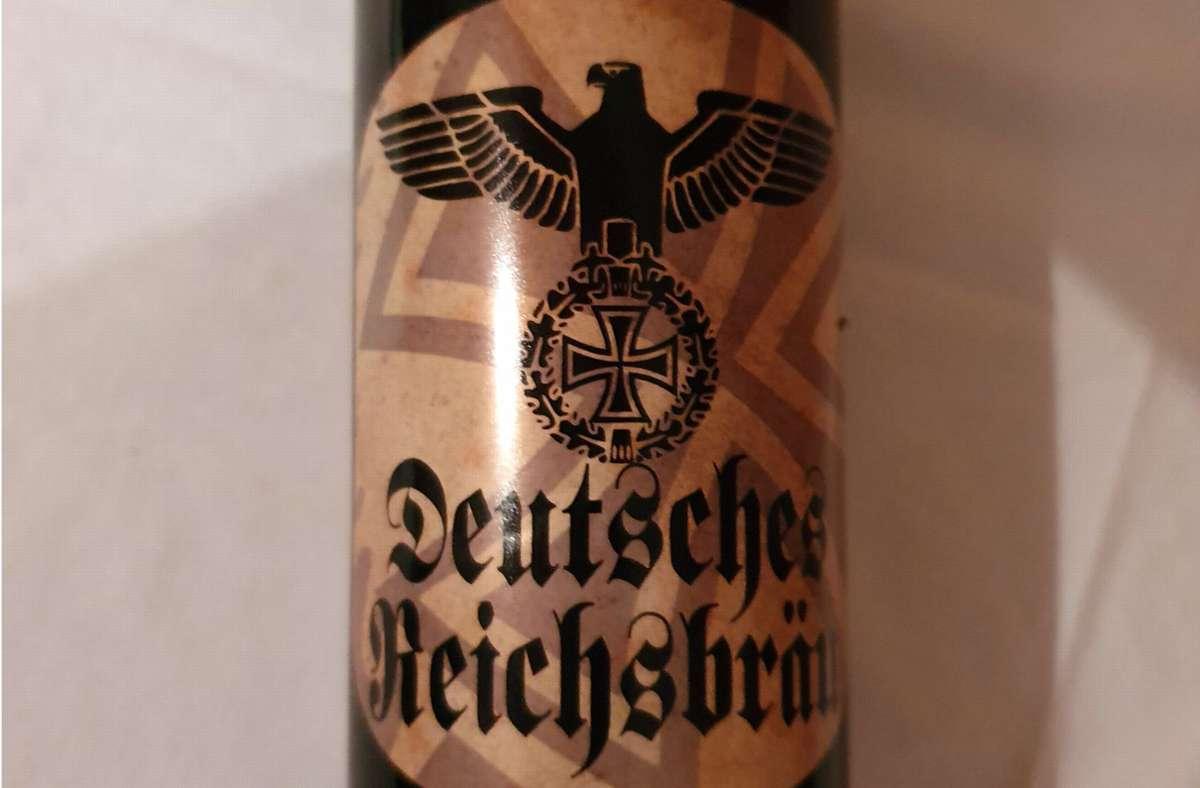 So sieht das Etikett der Bierflasche aus. Foto: dpa/Götz Ulrich