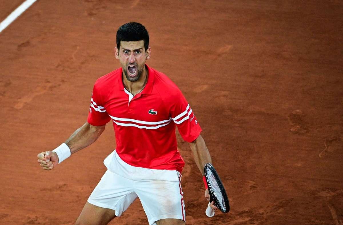Novak Djokovic besiegte in seinem Viertelfinale Matteo Berrettini. Foto: AFP/MARTIN BUREAU
