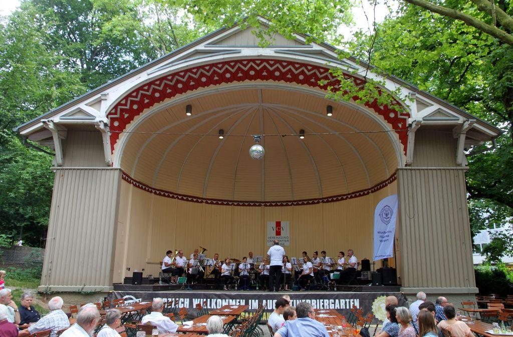 Der Musikverein Flügelrad Stuttgart eröffnet die diesjährige Reihe der Kurpark-Konzerte Foto: Veranstalter