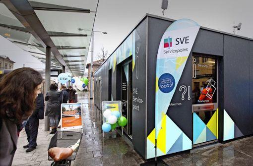 Neuer Servicepoint am Esslinger Bahnhof