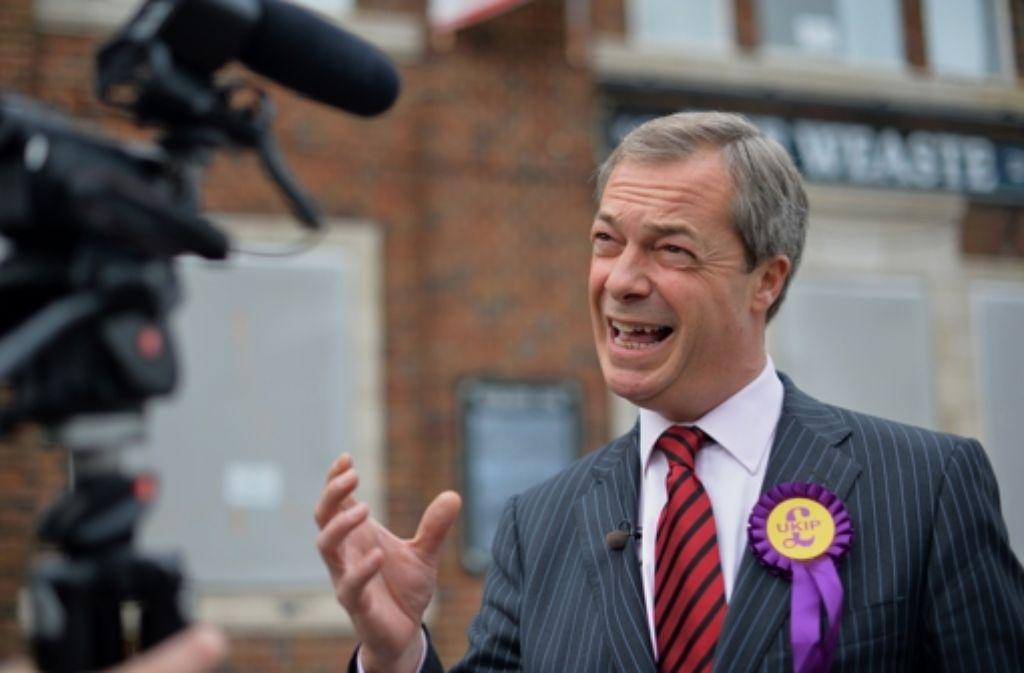 Nigel Farage will Großbritannien aus der EU führen. Foto: AFP
