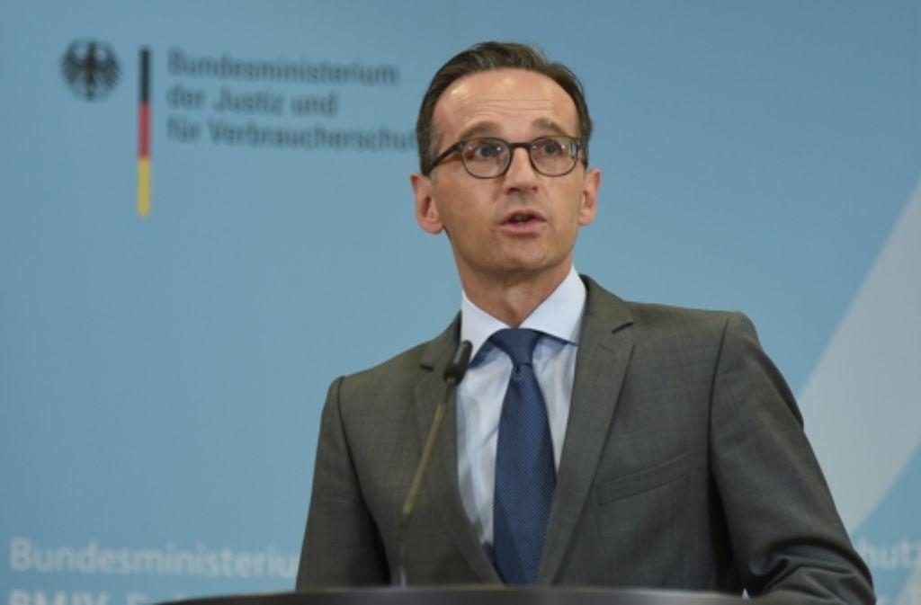 """Das Ministerium von Bundesjustizminister Heiko Maas hat gegenüber der Bundesanwaltschaft früh Zweifel an der Strafanzeige wegen Landesverrat geäußert, berichtet die """"Süddeutsche Zeitung"""" Foto: dpa"""