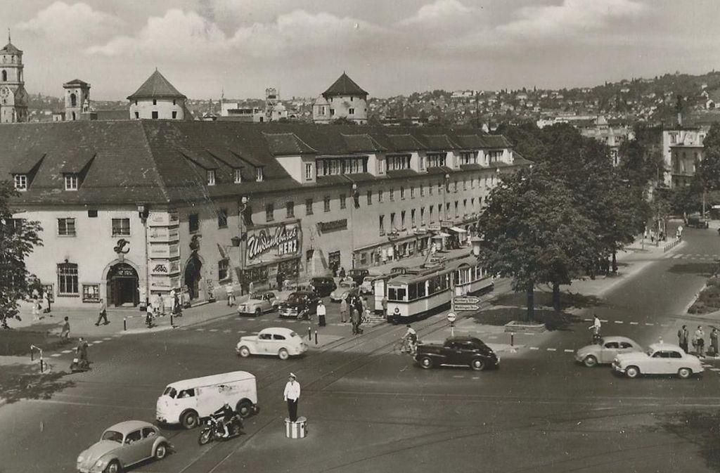 Der Charlottenplatz im Jahr 1954. Foto: Sammlung Wibke Wieczorek
