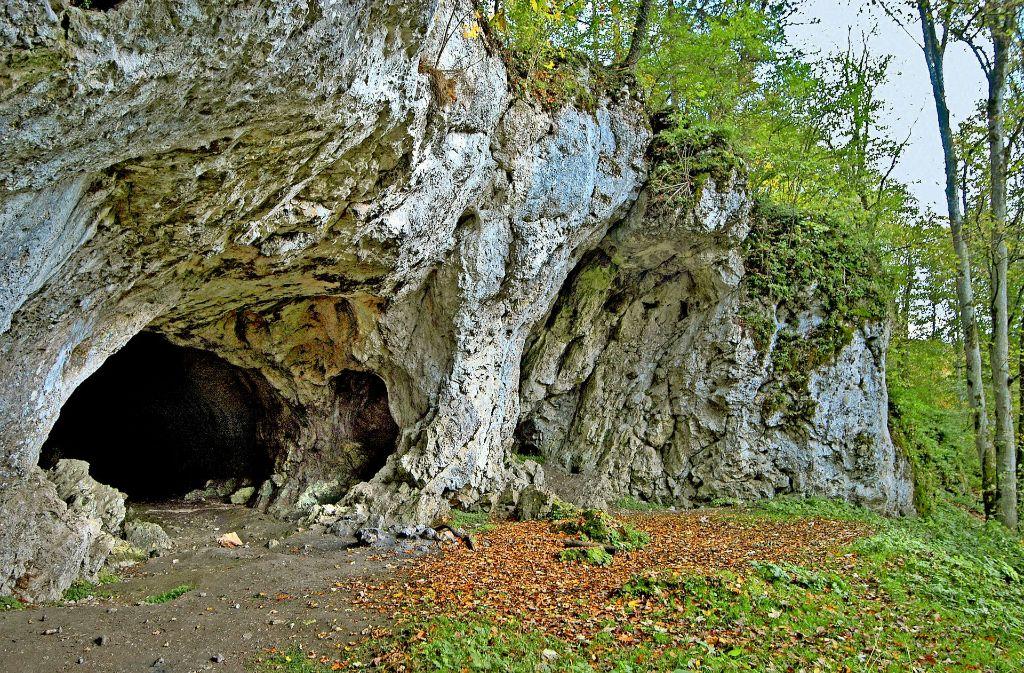 Der Hohlensteinstadel im Lonetal –  eine von sechs Höhlen, die Welterbestatus erhalten sollen. Foto: Landesamt für Denkmalpflege