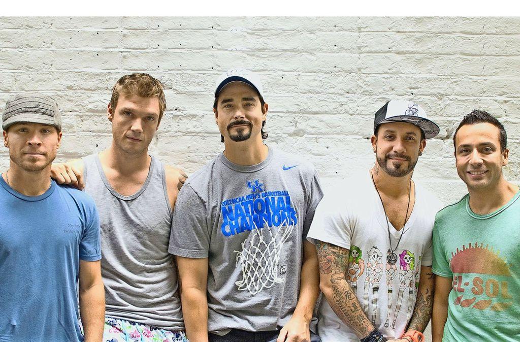 Längst frei von ihrem betrügerischen Manager: die Backstreet Boys Brian Littrell, Nick Carter, Kevin Richardson, AJ McLean, Howie Dorough (v. li.) Foto: SWR