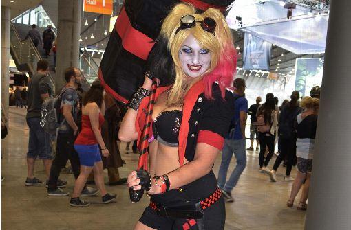 Verrückte Cosplayer auf der Comic Con