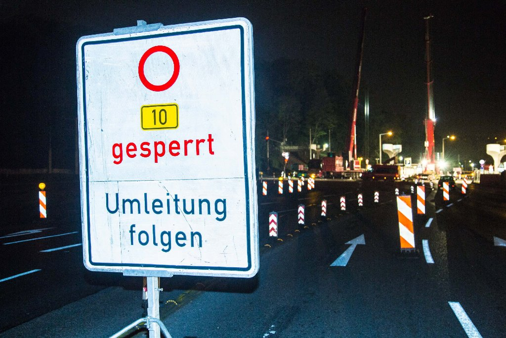 In der Nacht von Dienstag (19. Mai) auf Mittwoch kommt es auf der B10 und auf der B14 in Bad Cannstatt zu Behinderungen. (Symbolfoto) Foto: www.7aktuell.de | Simon Adomat