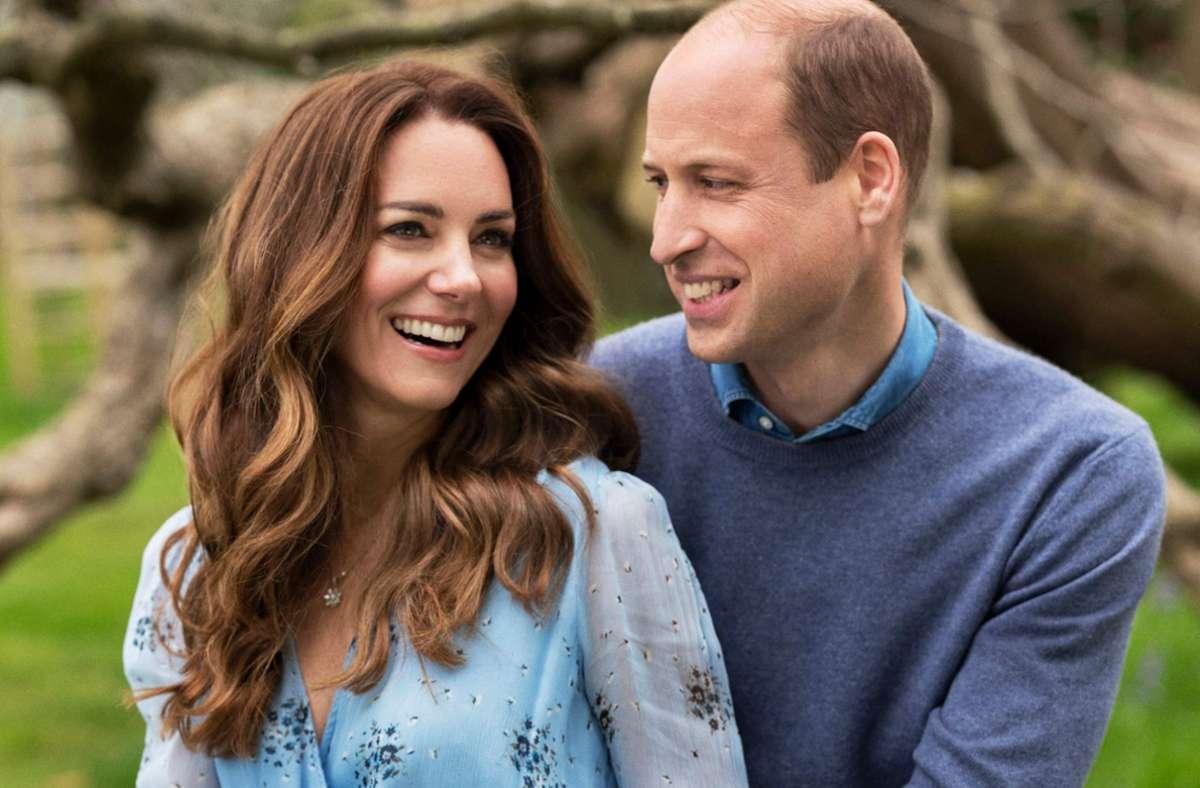 Zwei, die sich gut verstehen: Herzogin Kate und Prinz William sind zehn Jahre verheiratet. Foto: AFP/Kensington Palace/Chris Floyd