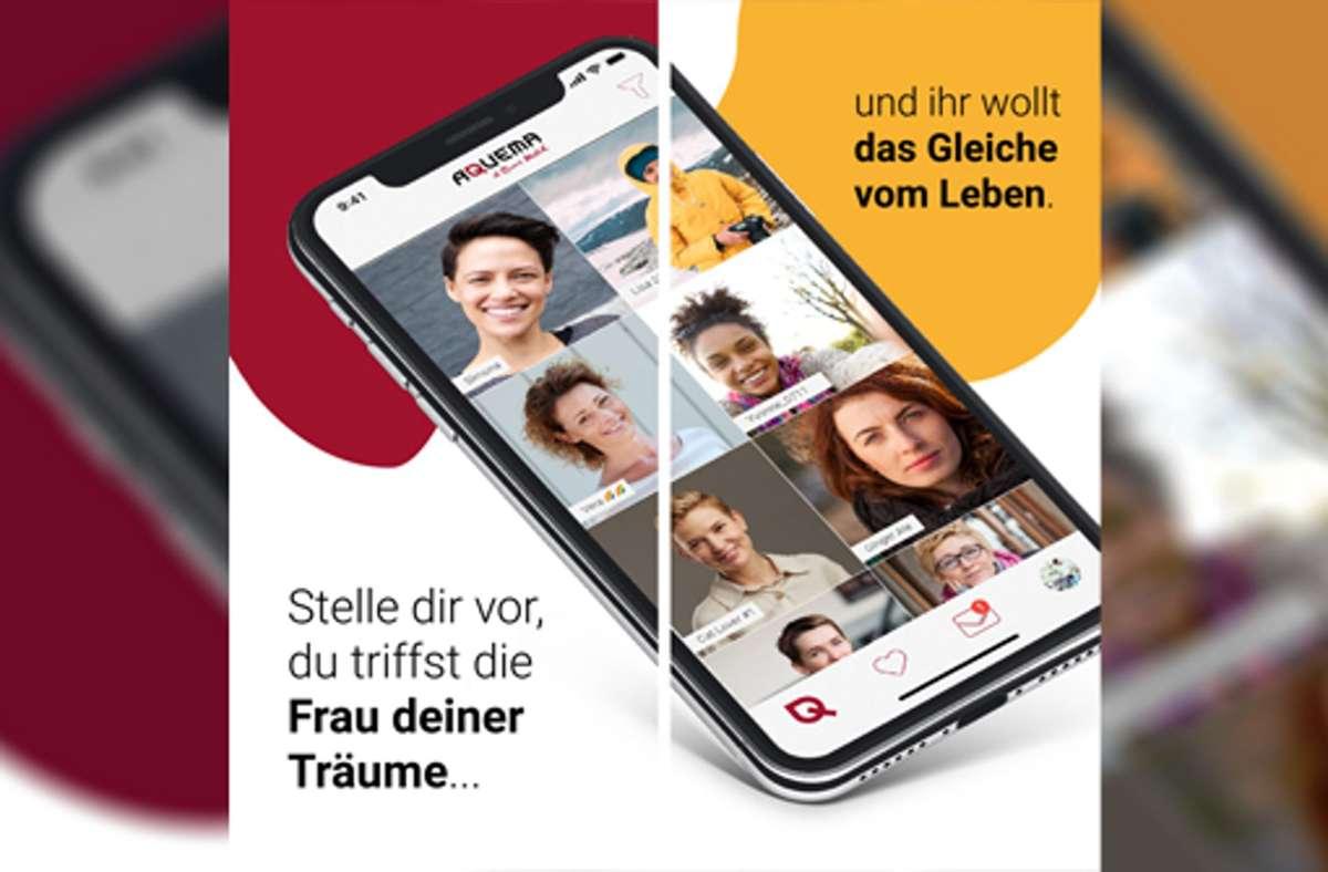 """Mit der Dating-App """"Aquema"""" sollen frauenliebende Frauen auf faire und angenehme Weise die richtige Partnerin treffen. Foto: Aquema"""