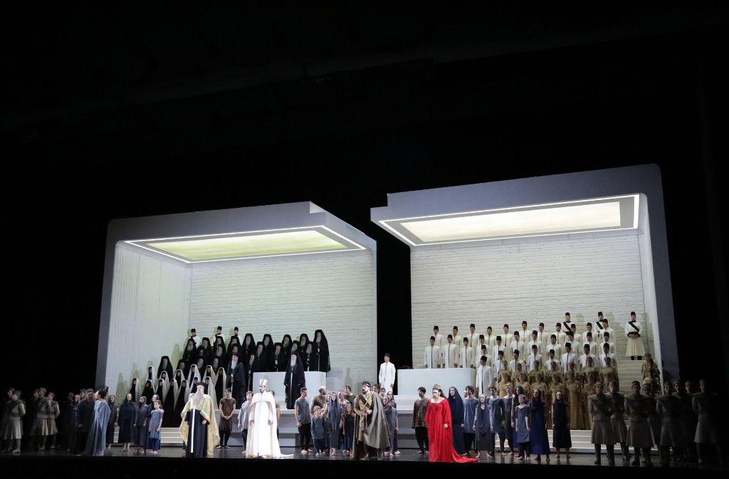 """Neuinszenierung der Oper """"Aida"""" von Verdi bei den Salzburger Festspielen Foto: Patricia Sigerist"""