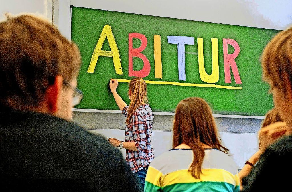 Bitte nicht stören, das schriftliche Abitur hat begonnen! Foto: dpa