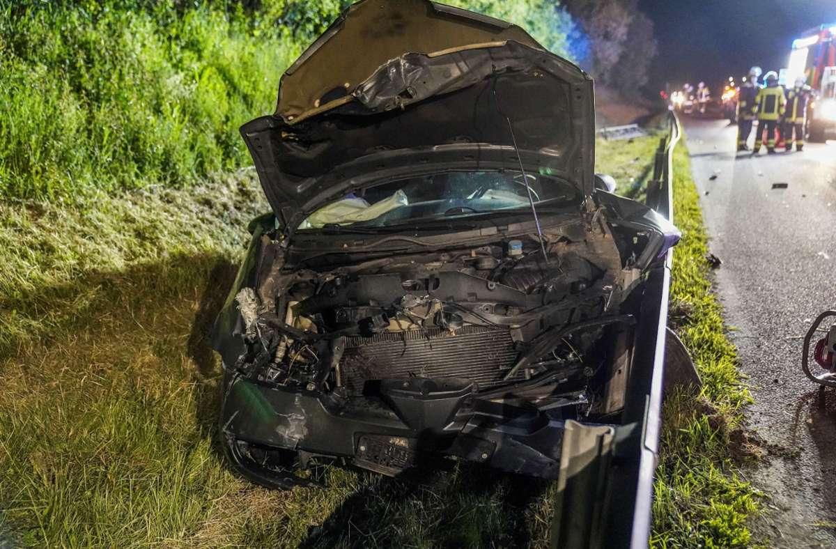 Das Auto des Mannes war nicht mehr fahrbereit. Foto: SDMG/Kohls