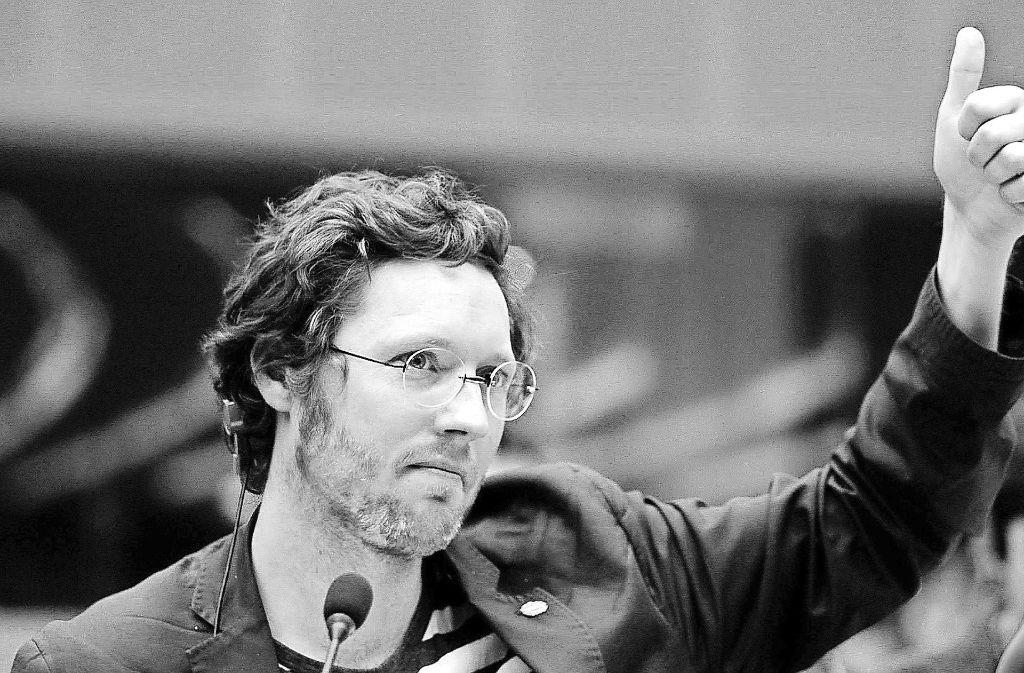 """Im Preisträgerfilm """"Democracy"""" von David Bernet kämpft der EU-Abgeordnete Jan Philipp Albrecht (Foto)  um den Datenschutz. Foto: Indi/Dieter Stürmer"""