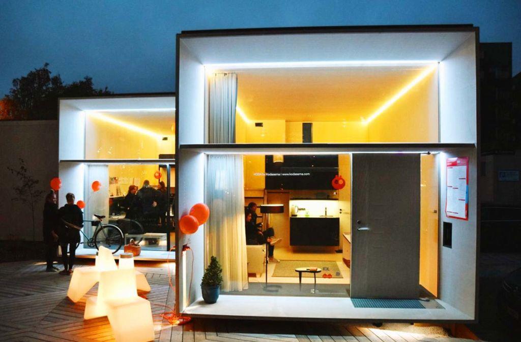 """Wohnen im Minimalmaß: Die zehner Jahre bringen als Reaktion auf die Wohnungsnot den Trend zum  """"tiny house"""" hervor. Unser Bild zeigt ein Modell des estnischen Architekturbüros Kodasema. Unsere Fotostrecke stellt sieben Bauten der Dekade vor, die Sie in Erinnerung behalten sollten. Foto: Kodasema"""