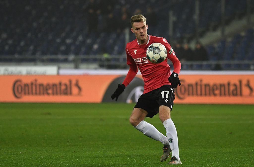 Marvin Ducksch spielt am letzten Zweitliga-Spieltag des Kalenderjahres 2019 mit Hannover 96 gegen den VfB Stuttgart. Foto: imago images/Jan Huebner/Jan Huebner via www.imago-images.de
