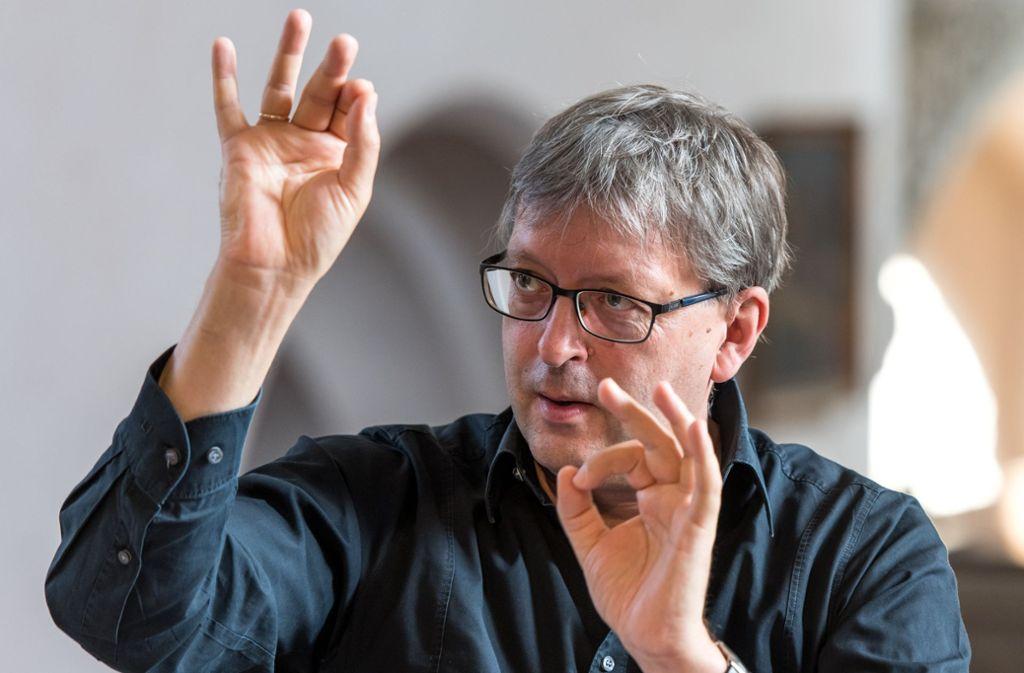 Der Motivator: Hans-Christoph Rademann, Dirigent und Leiter der Bachakademie Foto: Bachakademie