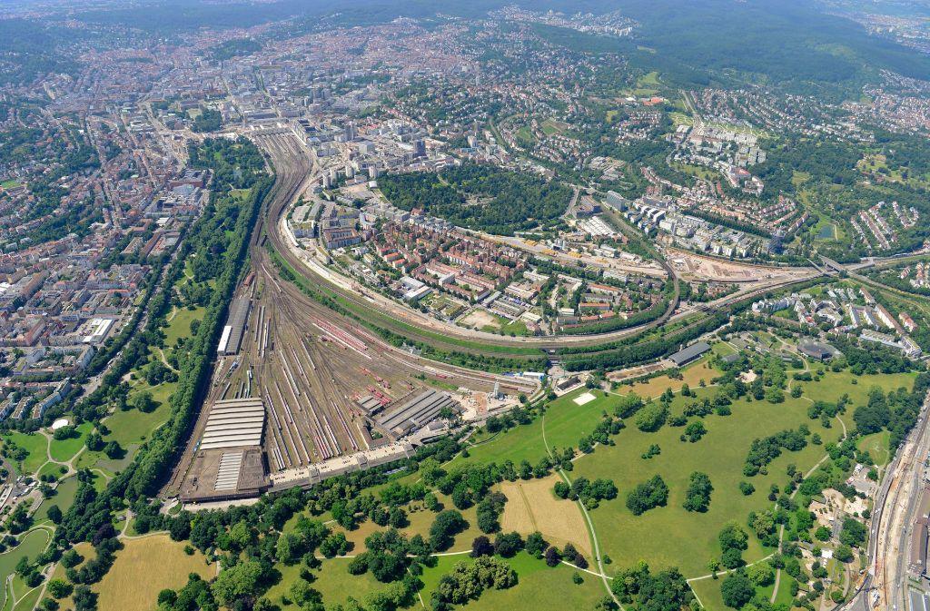 Zankapfel Rosensteinquartier. Foto: Arnim Kilgus / DB Bahnprojekt Stuttgart Ulm