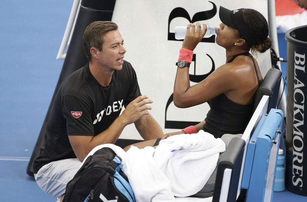 Sascha Bajin ist nicht mehr Trainer von Tennis-Star Naomi Osaka. Foto: AP