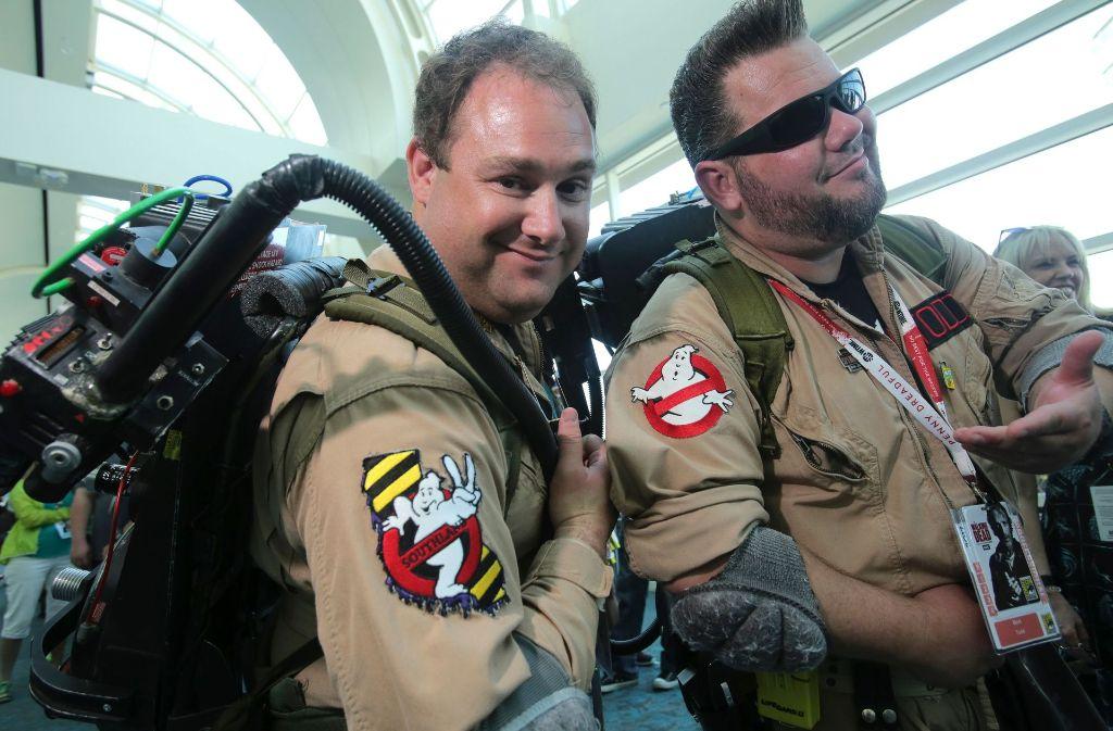 Cosplayer – wie hier als Ghostbuster – bestimmen das Bild der Comic Con in San Diego. Foto: AFP