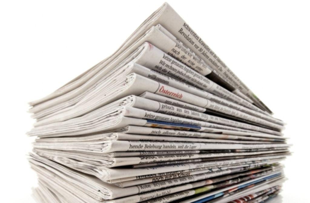 Die Tageszeitungen können wieder ungehindert produziert werden. Mit dem Tarifabschluss für die Redakteure ist auch die Streikgefahr gebannt. Foto: StZ