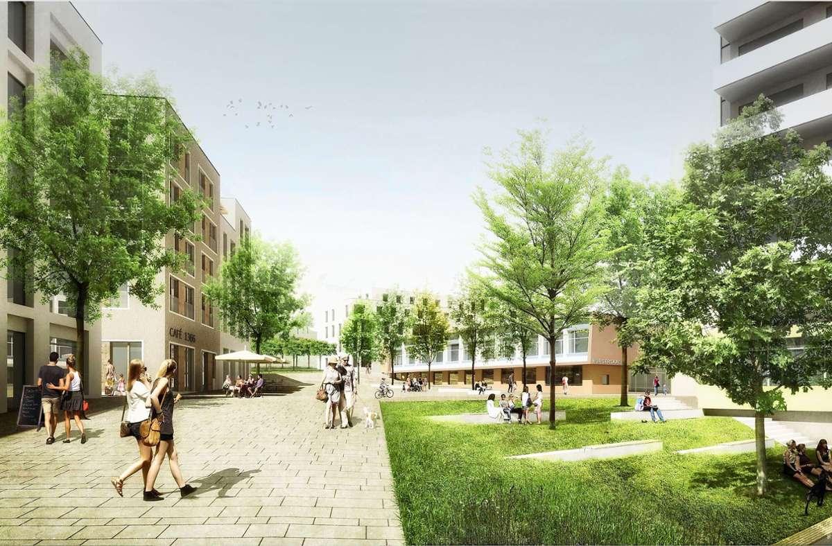 Diese Bebauung ist beim früheren  Bürgerhospital geplant. Foto: Pesch-Partner
