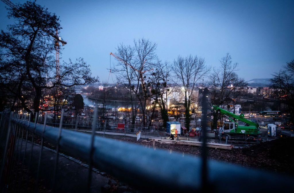 Das Baufeld am Rand des Rosensteinparks ist nun gerodet. (Archivfoto) Foto: Lichtgut/Zweygarth