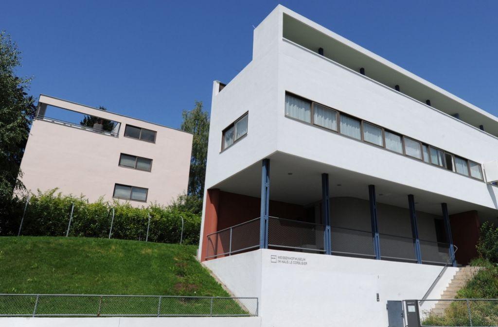 Diese von der Unesco geadelten Häuser von Le Corbusier auf dem Weissenhof zählen zu den ersten hervorragenden Beispielen moderner Architektur im vergangenen Jahrhundert. Foto: dpa