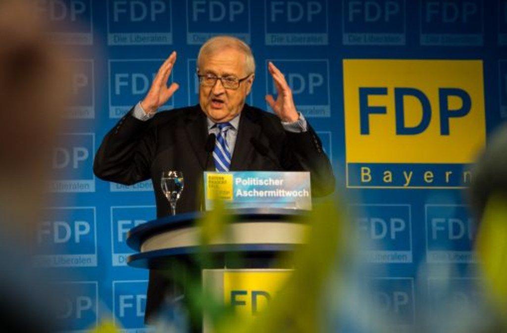 FDP-Spitzenkandidat Rainer Brüderle steht für eine Ampel-Koalition nicht zur Verfügung. Foto: dpa