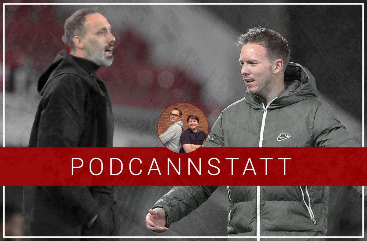 Das Spiel des VfB Stuttgart gegen RB Leipzig steht im Fokus der aktuellen Folge. Foto: imago images/StZN