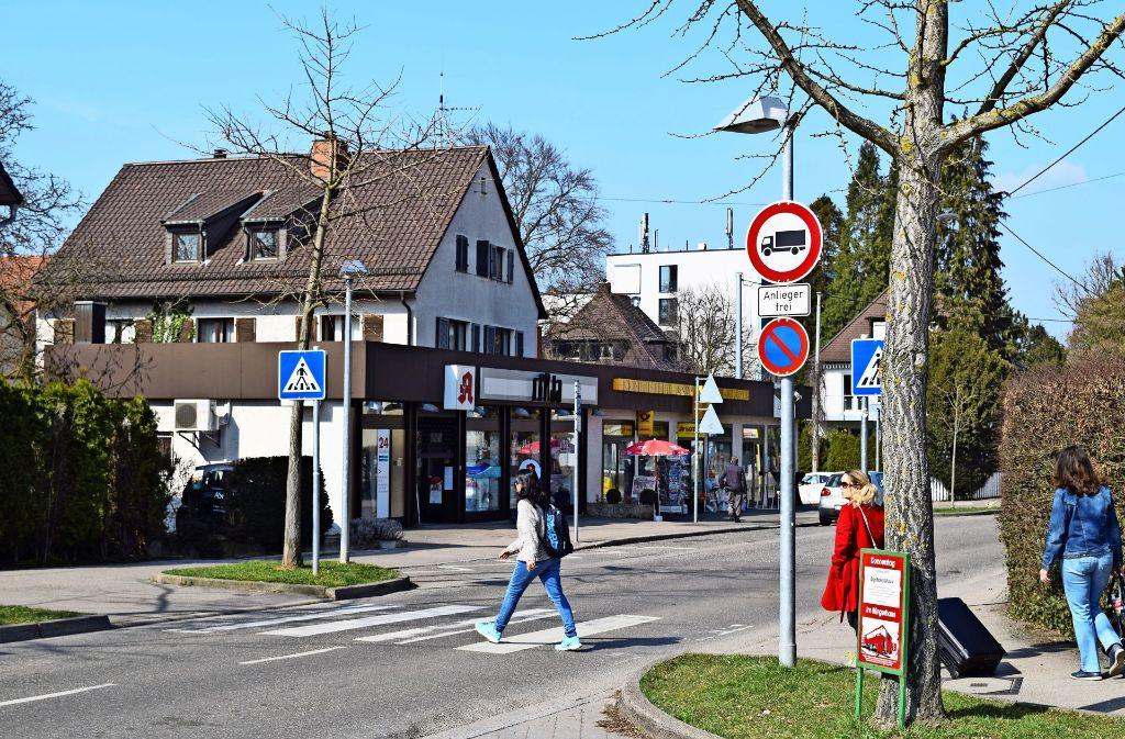 Viele Menschen in Sonnenberg befürchten, dass der neue Bebauungsplan die Läden an der Laustraße gefährdet. Foto: Archiv Alexandra Kratz