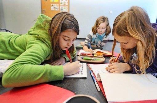 Hauptschüler im Prüfungsstress