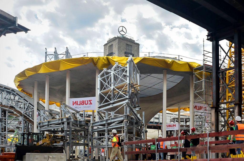 Riesenbaustelle Tiefbahnhof: Ende 2025 soll er in Betrieb gehen. Foto: Max Kovalenko