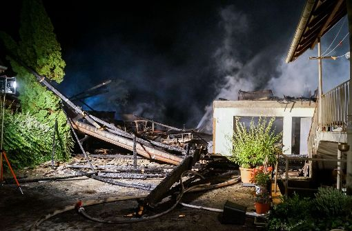 Hoher Sachschaden nach Scheunenbrand