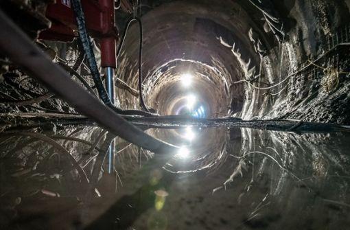 So viel Wasser läuft in den Obertürkheimer Tunnel