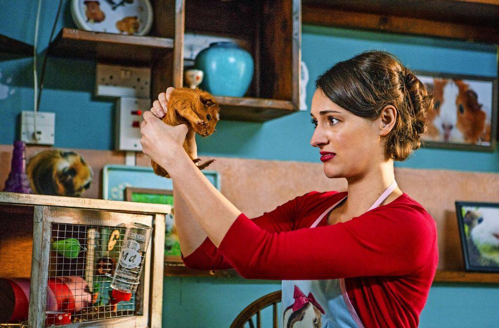 """Auch zu Meerschweinchen hat die  Titelheldin der Amazon-Serie """"Fleabag"""", gespielt von Phoebe Waller-Bridge, ein eher kompliziertes Verhältnis. Foto: Amazon"""