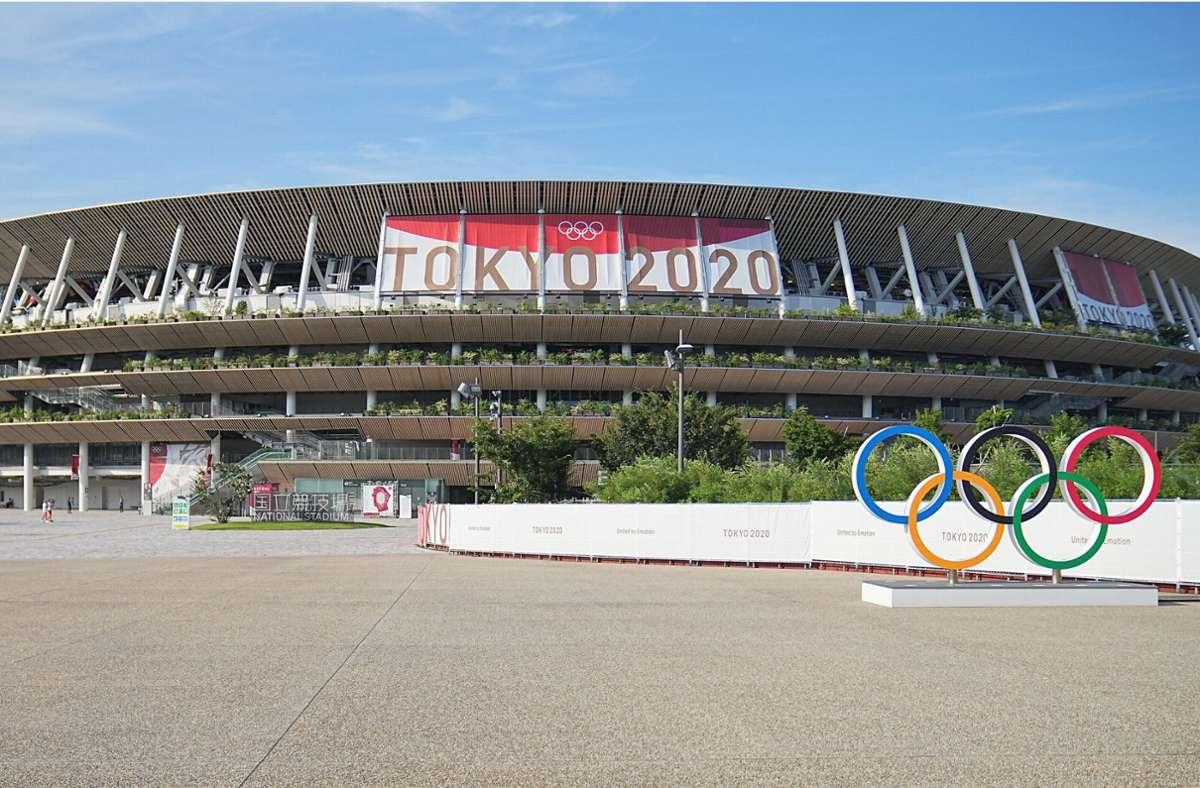 Im Olympiastadion von Tokio wird die  Eröffnungsfeier stattfinden. Foto: dpa/Michael Kappeler