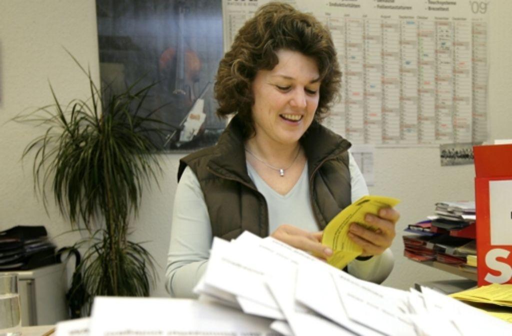 SPD-Bundestagsabgeordnete Ute Vogt bittet die Bahn erneut Rücksicht auf die Anwohner zu nehmen. Foto: Steinert