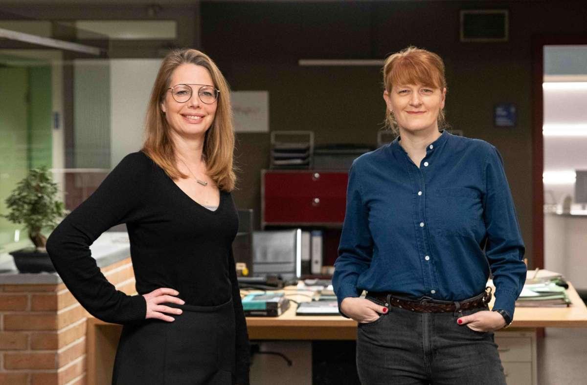 """Die neuen """"SOKO""""-Chefinnen: die ausführende Produzentin Nicole C. Buck (links) und die Produzentin Maren Knieling Foto: Bavaria Fiction GmbH/Moritz Brucker"""