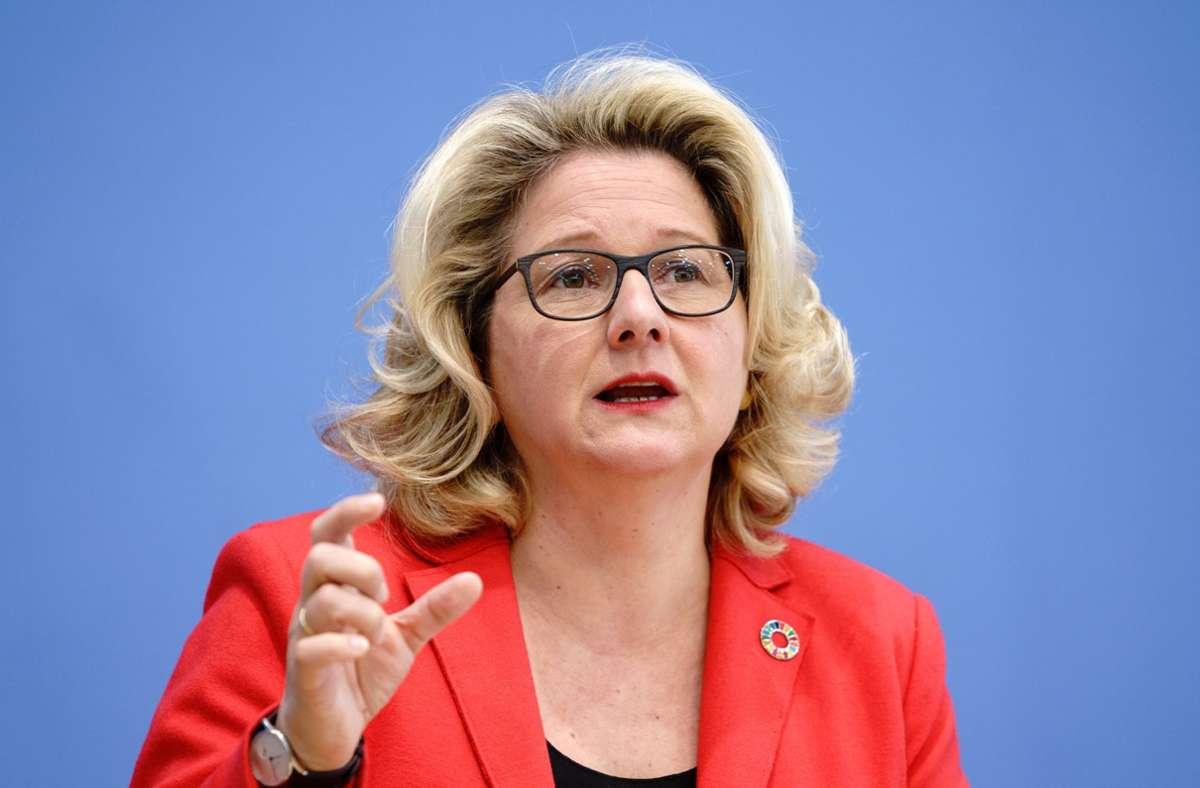 Bundesumweltministerin Svenja Schulze (SPD) will ein neues Klimaschutzgesetz auf den Weg bringen. (Archivbild) Foto: dpa/Kay Nietfeld