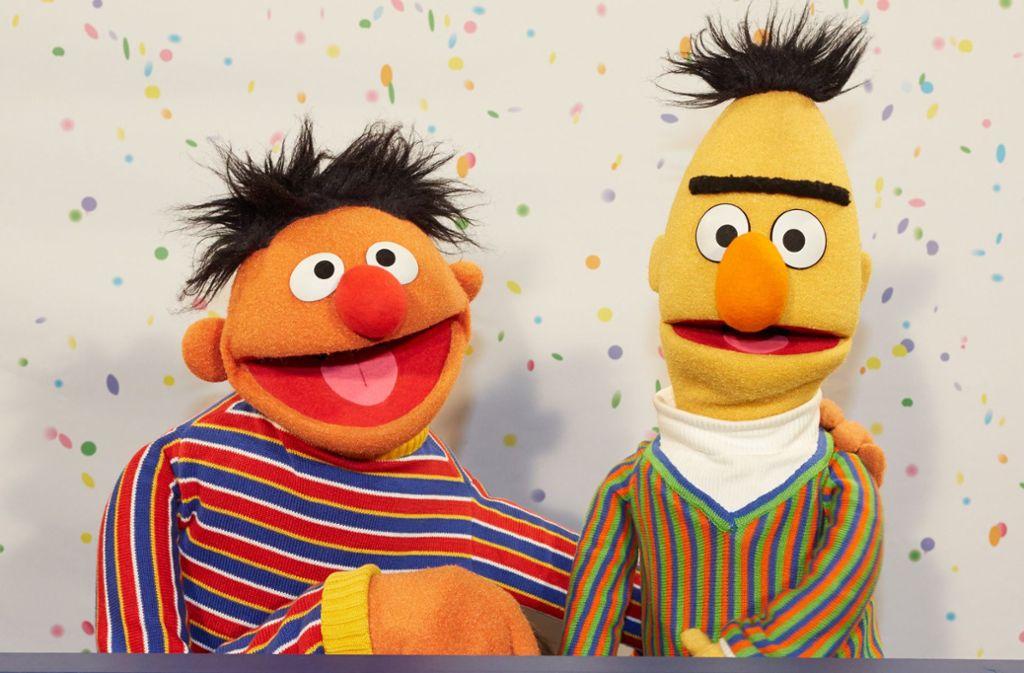 Ernie und Bert feiern zusammen mit der Sesamstraße 50-jähriges Jubiläum. Foto: dpa