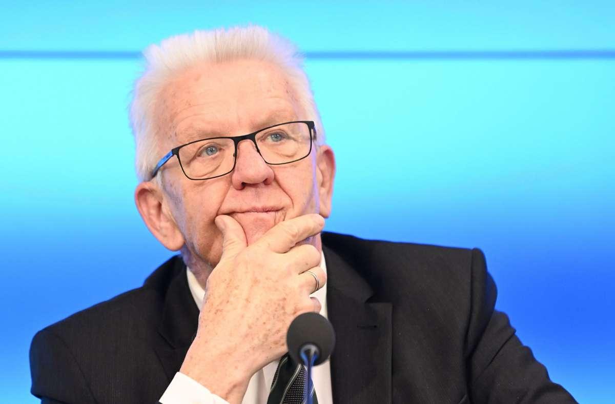 """Ministerpräsident Winfried Kretschmann: """"Das geht einfach nicht."""" Foto: dpa/Bernd Weißbrod"""