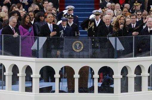Barack Obama hat zum zweiten Mal seinen Amtseid abgelegt. Foto: dpa