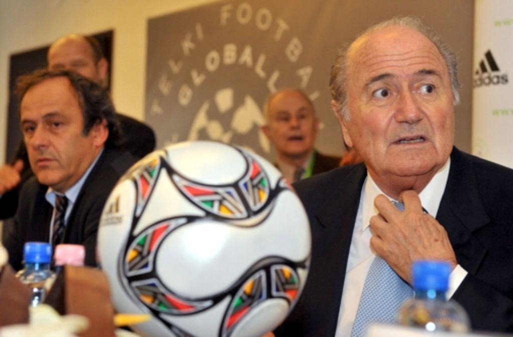 Plattini und Blatter in besseren Zeiten. Foto: dpa
