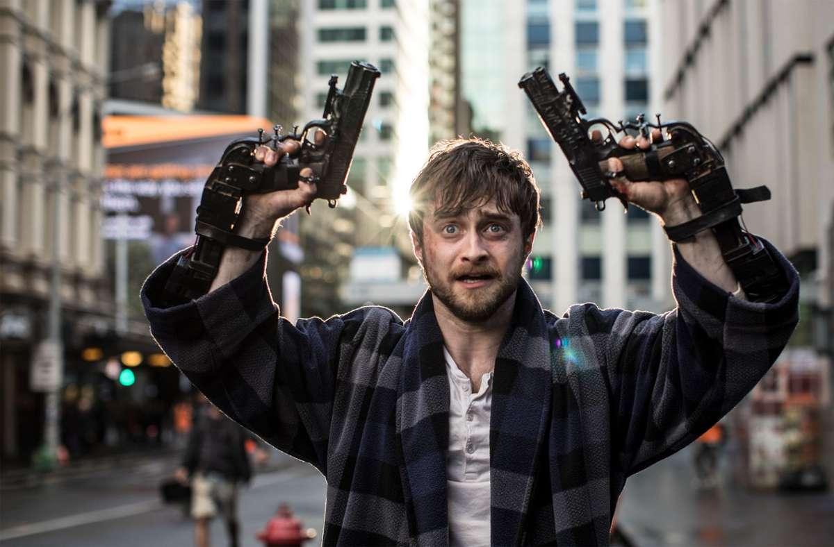 "Daniel Radcliffe in ""Guns Akimbo"" Foto: Leonine"
