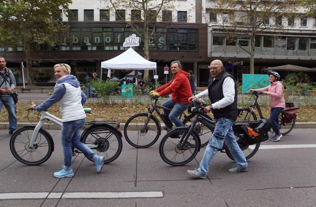 Viele Besucher waren mit dem Fahrrad unterwegs. Foto: Andreas Rosar Fotoagentur-Stuttg