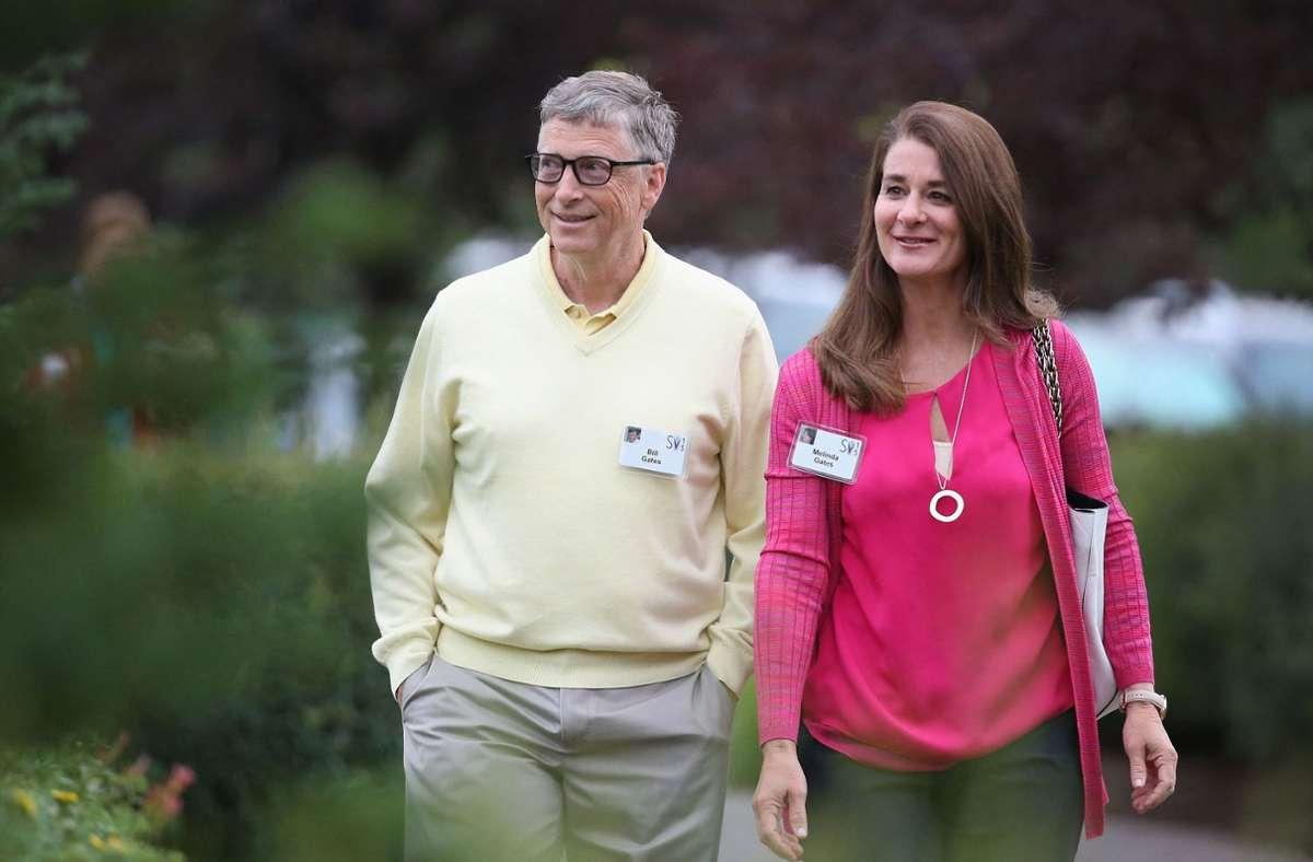 """Microsoft-Gründer Bill Gates und seine Ehefrau Melinda: """"Wir glauben nicht mehr, dass wir gemeinsam als Paar in der nächsten Phase unseres Leben wachsen können."""" Foto: AFP/SCOTT OLSON"""