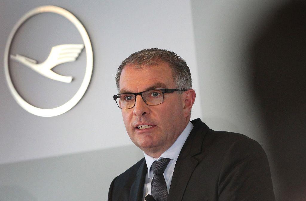 Lufthansa-Chef Carsten Spohr ist bei Air Berlin dicht vor dem Ziel. Foto: AFP