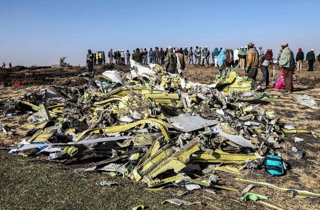 Bei dem Absturz der Ethiopian-Airlines-Maschine waren 157 Menschen gestorben. Foto: AFP